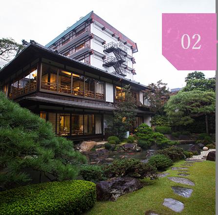 日本庭園での記念撮影